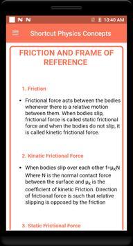 Shortcut Physics Concepts screenshot 3
