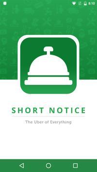Short Notice - Freelance Jobs poster