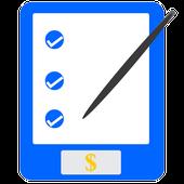 Retail checklist calculator icon