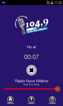 Rádio Novo Milênio 104,9 FM poster