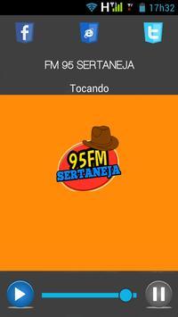 95 FM Sertaneja poster