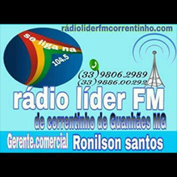 Rádio Líder FM 104,5 Correntinho De Guanhaes/MG apk screenshot