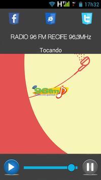 RÁDIO 96 FM RECIFE 96,3 MHz apk screenshot