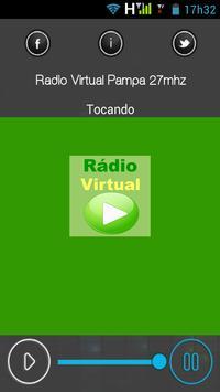 Rádio Virtual Pampa 27mhz - Vila Nova do Sul - RS poster