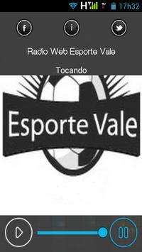 Radio Web Esporte Vale apk screenshot