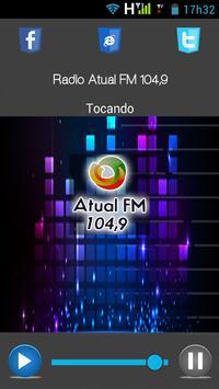 Radio Atual FM 104,9 poster
