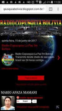 RADIO COPUSQUIA LA PAZ apk screenshot