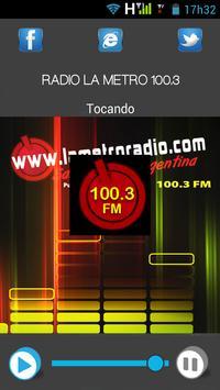 RADIO LA METRO 100.3 apk screenshot