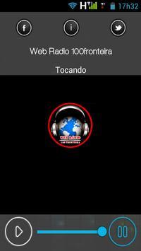 Web Radio 100fronteira apk screenshot