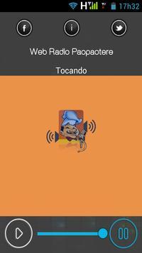Web Rádio Paopaotere apk screenshot