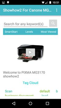 Showhow2 for Canon PixmaMG3170 poster
