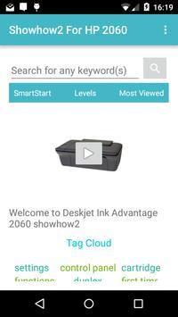 Showhow2 for  HP DeskJet 2060 poster