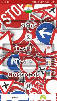 Traffic signs - India poster
