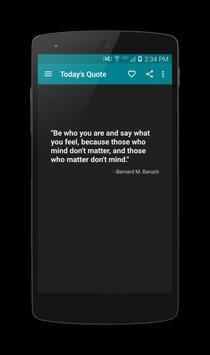 Today's Quote apk screenshot