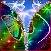 Shiny Butterfly Zipper Lock icon