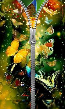 Shiny Butterfly Zipper Lock apk screenshot