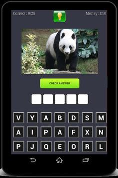 Animals Quiz poster