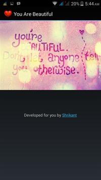You Are Beautiful apk screenshot