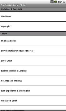 Pro Cheats - Skyrim Edition poster