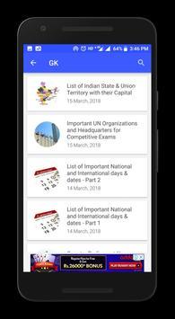 Current Affairs App 2018 - Daily GK Update screenshot 7