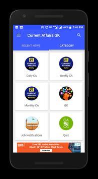 Current Affairs App 2018 - Daily GK Update screenshot 1