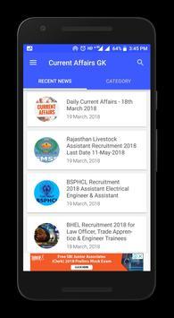 Current Affairs App 2018 - Daily GK Update screenshot 3
