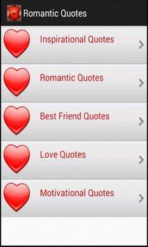Romantic Quotes apk screenshot
