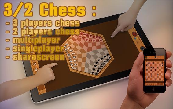 3/2 Chess: Three Players Chess screenshot 6