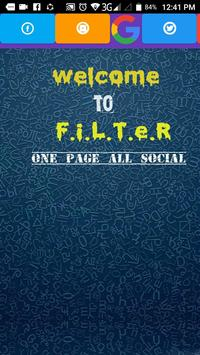 FILTER-All Social Site In One Page screenshot 1