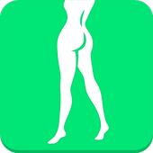 Buttocks and legs workout icon