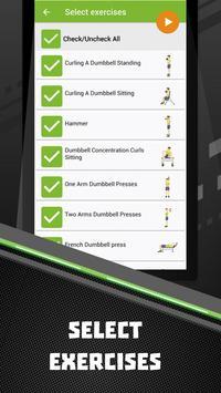 Dumbbells home workout apk screenshot