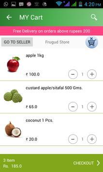 Frugud - Online Grocery Basket poster
