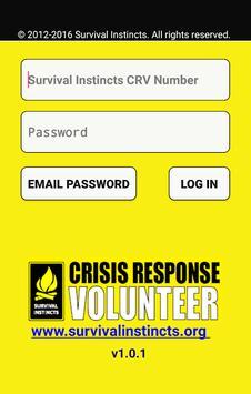 Crisis Response Volunteer poster