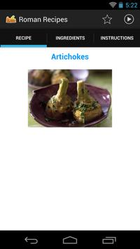 Roman Recipes FREE apk screenshot