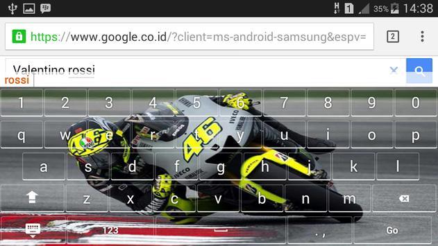 Valentino Rossi Keyboar Theme screenshot 3