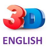 3D English icon