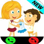 Sibling fake call icon