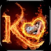 Fire Text Photo Frame icon