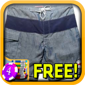 3D Swim Trunks Slots - Free icon