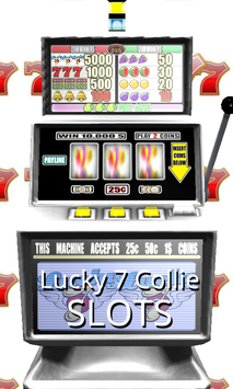 3D Lucky 7 Collie Slots poster