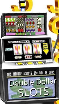3D Double Dollar Slots syot layar 2