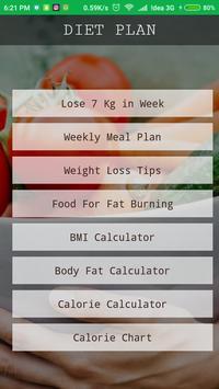 Diet Plan - Weight Loss 7 Days poster