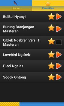Masteran Kicau Burung Komplit (Natural Bird Sound) apk screenshot