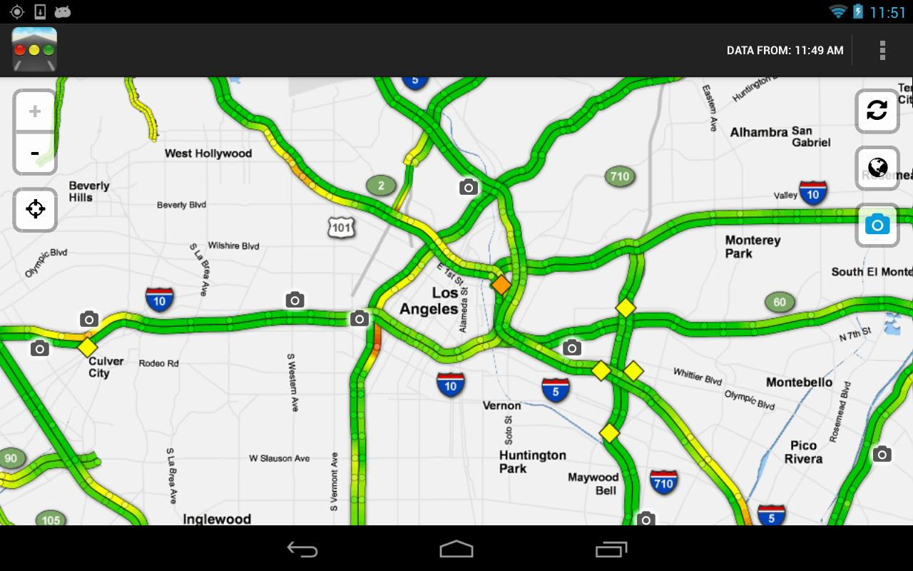 Sigalert - Traffic Reports for Android - APK Download on san gabriel mountains california map, la live map, caltrans sigalert los angeles map, los angeles county, l.a map, 511 traffic los angeles map,