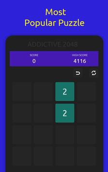 2048 Addictive Puzzle Square Game [4x4] poster
