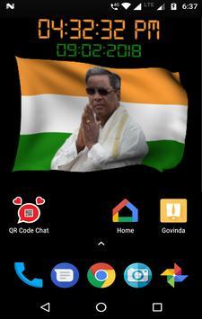 Siddaramaiah Flag Live Wallpapers - Congress screenshot 10