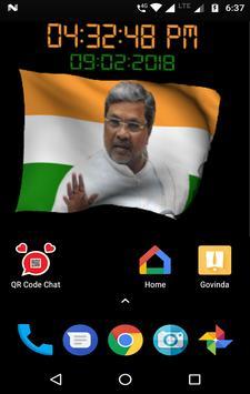 Siddaramaiah Flag Live Wallpapers - Congress screenshot 2