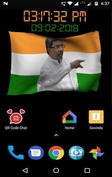 Siddaramaiah Flag Live Wallpapers - Congress screenshot 6