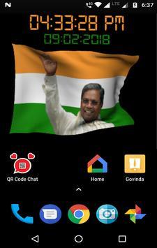 Siddaramaiah Flag Live Wallpapers - Congress screenshot 7