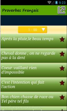 Proverbes Français screenshot 1